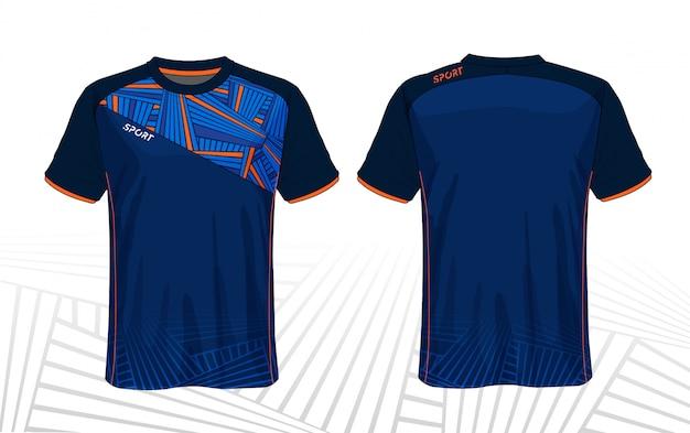 T-shirt sportiva in jersey di calcio Vettore Premium