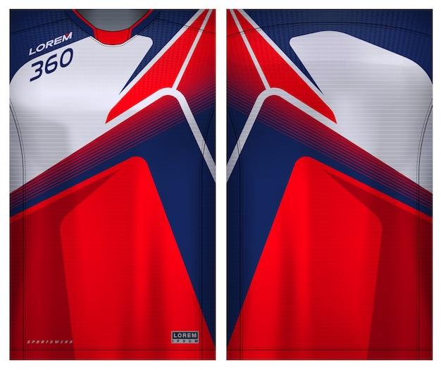 T-shirt sportiva per calcio Vettore Premium