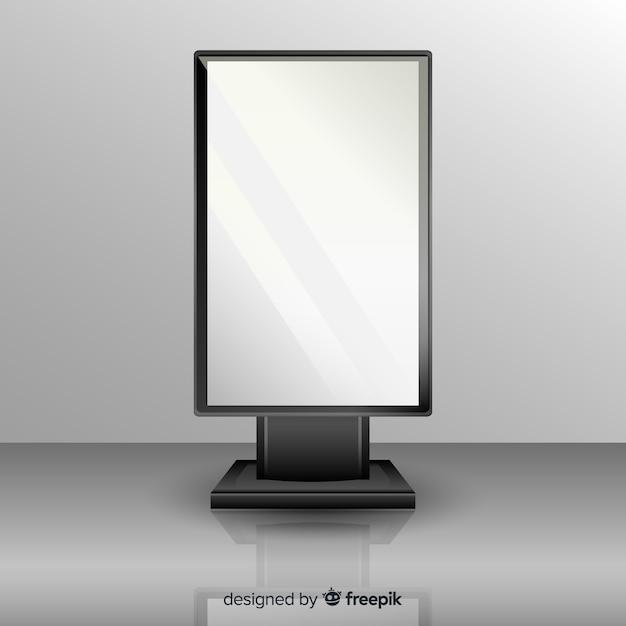 Tabellone pubblicitario scatola realistica Vettore gratuito