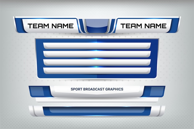 Tabellone segnapunti sportivo e terzo inferiore Vettore Premium