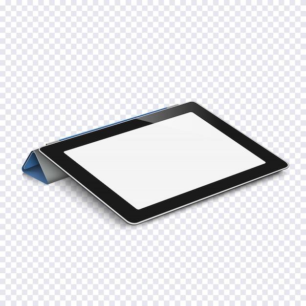Tablet con schermo vuoto isolato su trasparente Vettore Premium