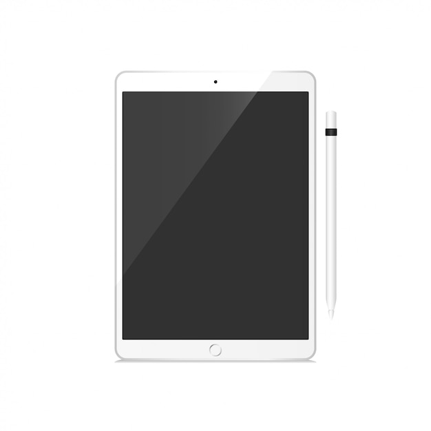Tablet pro set mockup vector Vettore Premium