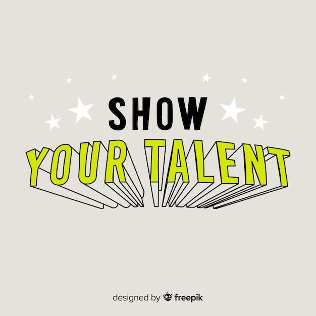 Talento ricerca sfondo calligrafico Vettore gratuito
