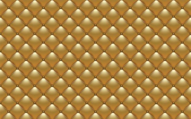 Tappezzeria astratta di vettore o fondo del sofà di struttura del cuoio dell'oro Vettore Premium