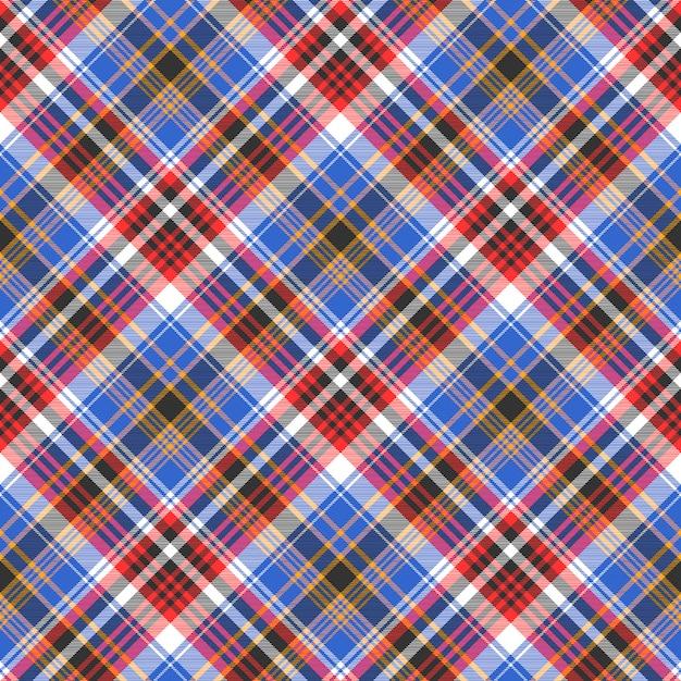 Tartan scozzese a quadri blu senza cuciture Vettore Premium