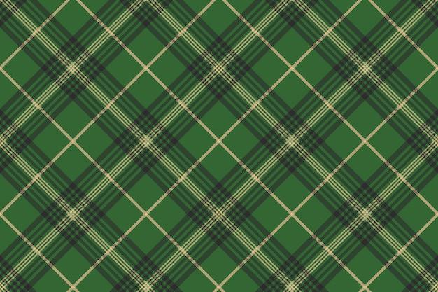 Tartan scozzese check verde senza cuciture Vettore Premium