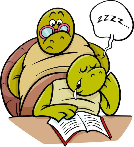 Tartaruga addormentata sul fumetto di lezione scaricare