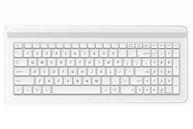 Tastiera per pc bianca Vettore Premium
