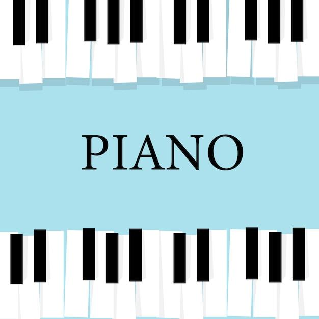 Tastiera per pianoforte musicale Vettore Premium