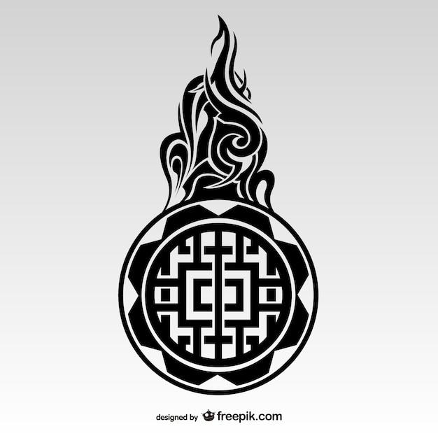 Tatuaggio tribale stile maori Vettore gratuito