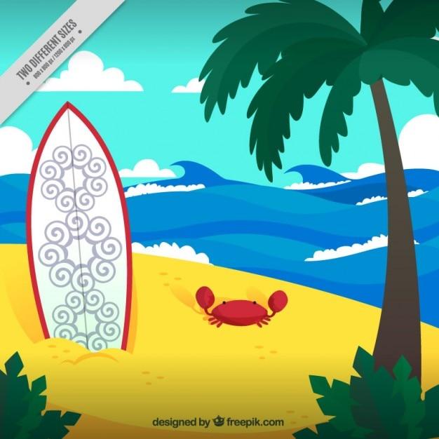 Tavola da surf sullo sfondo di sabbia scaricare vettori gratis - Tavola da surf motorizzata prezzo ...