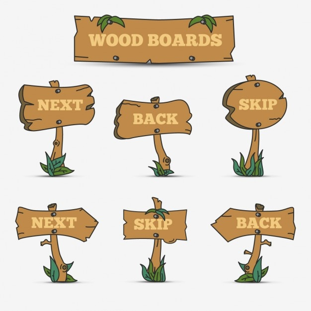 Tavole di legno Vettore gratuito