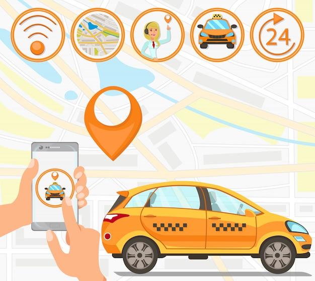 Taxi e servizi di guida Vettore Premium