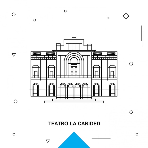 Teatro la carided Vettore Premium