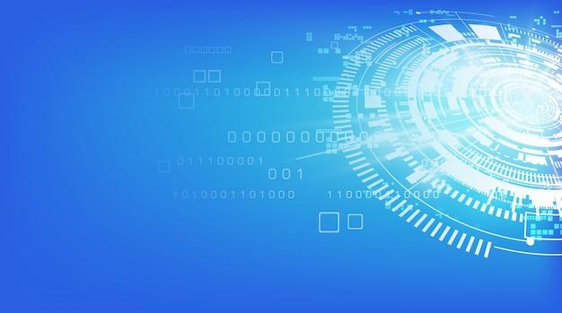 Tecnologia astratta comunicazione sfondo Vettore Premium