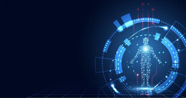 Tecnologia astratta digitale salute medica Vettore Premium