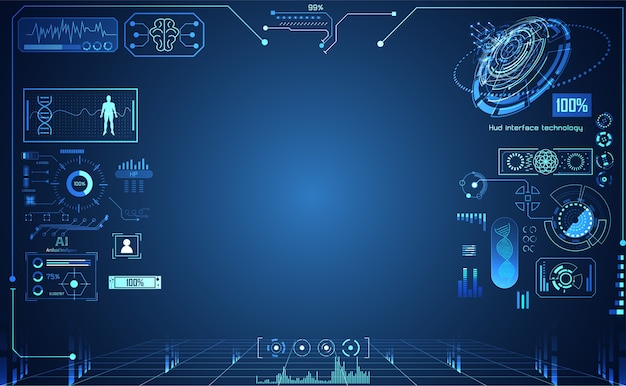 Tecnologia astratta ui futuristico Vettore Premium