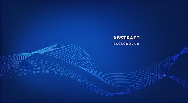 Tecnologia astratto sfondo blu. Vettore Premium