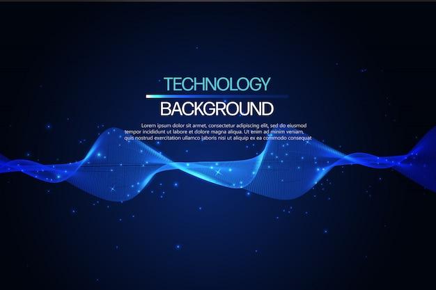Tecnologia astratto. Vettore Premium