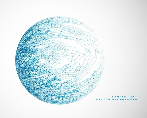 Tecnologia blu design a rete metallica Vettore gratuito