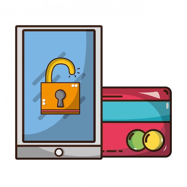 Tecnologia di sicurezza informatica Vettore Premium