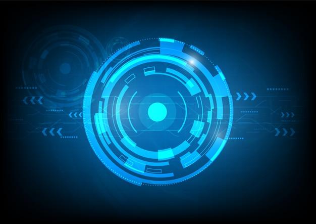 Tecnologia digitale futuristica astratta Vettore Premium