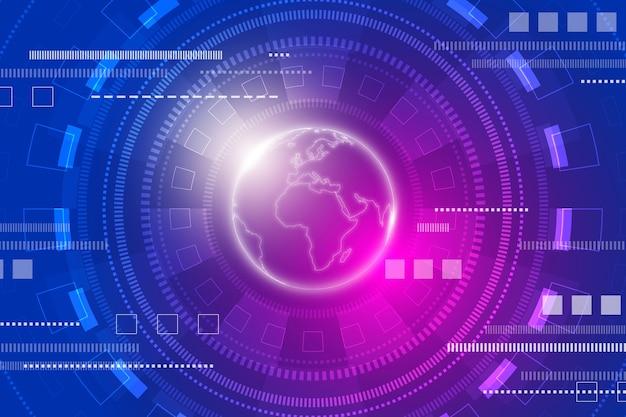 Tecnologia futuristica sullo sfondo Vettore gratuito