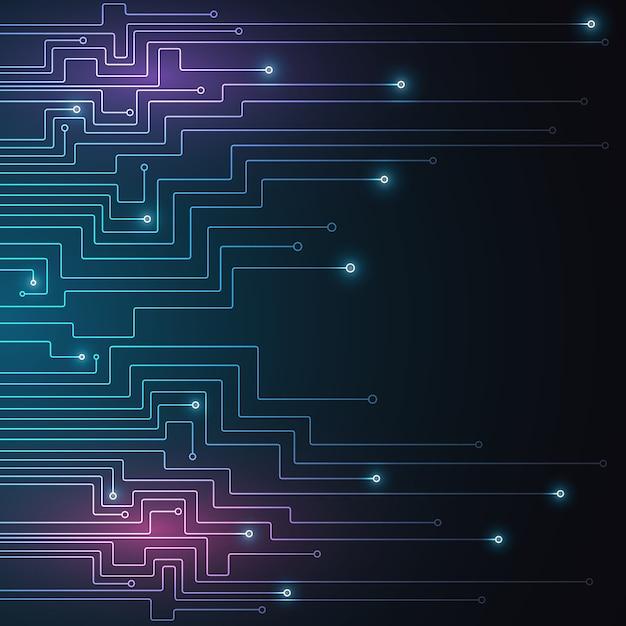 Tecnologia high tech geometrica Vettore Premium