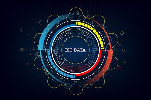 Tecnologia innovativa di dati di grandi dimensioni Vettore Premium