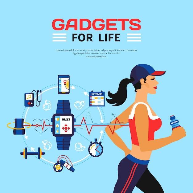 Tecnologia intelligente per il fitness Vettore gratuito