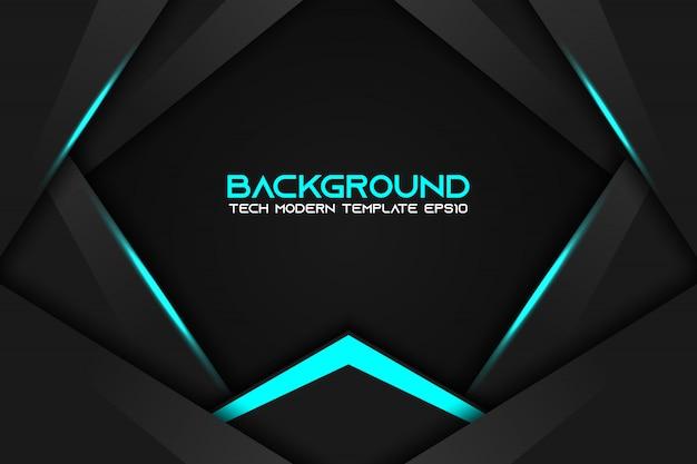 Tecnologia moderna della disposizione nera nera metallica astratta della struttura Vettore Premium