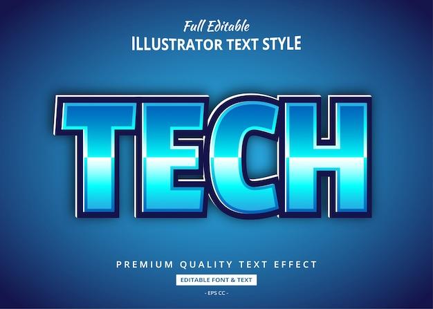 Tecnologia scifi effetto testo in stile 3d Vettore Premium