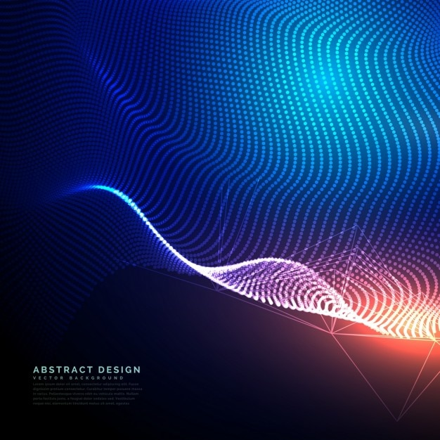 Tecnologia sfondo astratto composto di punti maglia Vettore gratuito