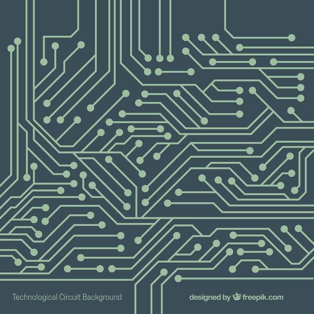 Tecnologia sfondo con circuito Vettore gratuito