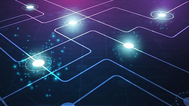 Tecnologia sfondo geometrico Vettore Premium