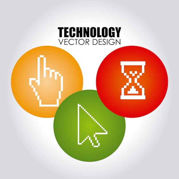 Tecnologia su grigio Vettore gratuito
