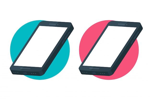 Telefono cellulare mockup per la progettazione di schermate di applicazioni su smartphone. Vettore Premium