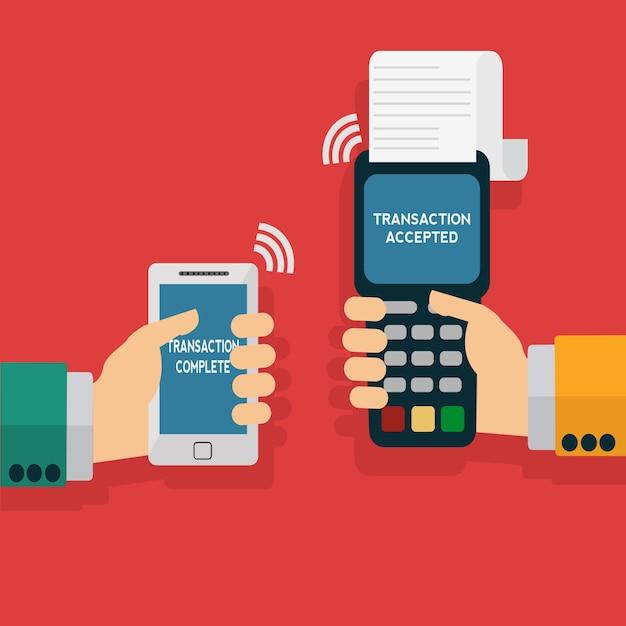 Telefono pagamento sfondo Vettore gratuito