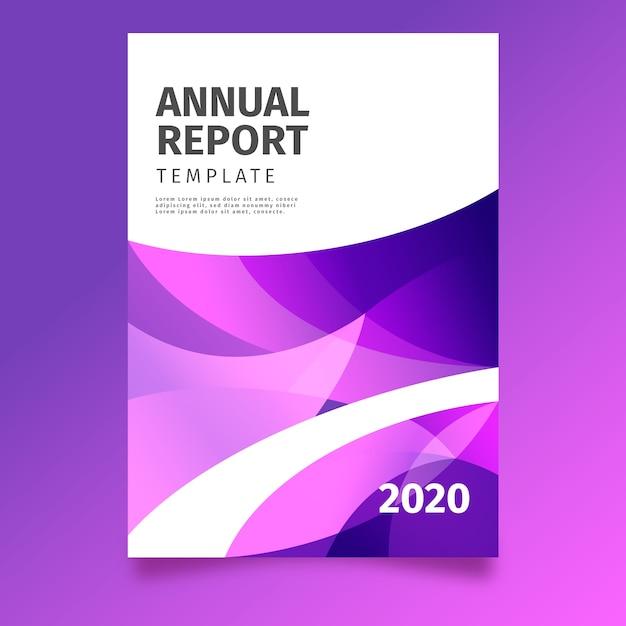 Tema astratto colorato modello di relazione annuale Vettore gratuito
