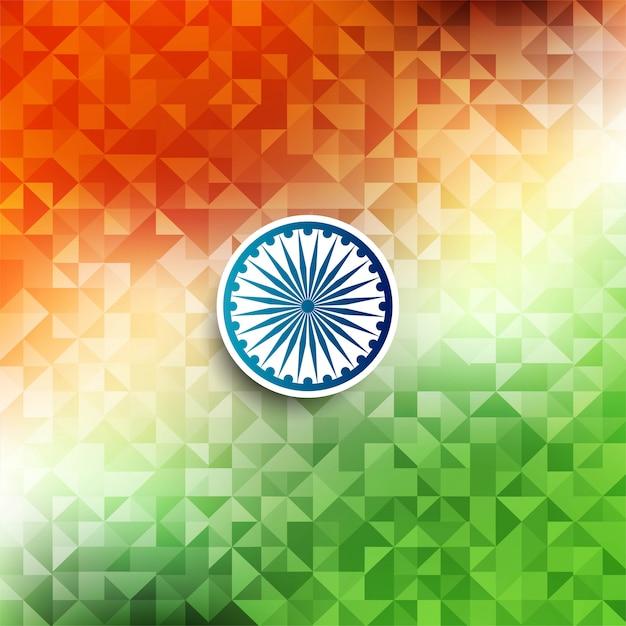Tema astratto della bandiera indiana geometrico Vettore gratuito