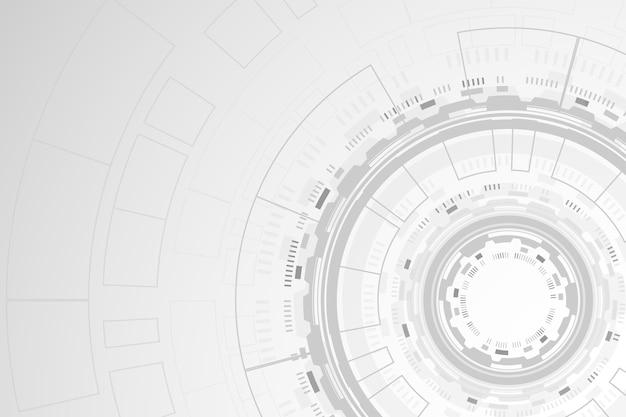 Tema carta da parati tecnologia bianca Vettore gratuito