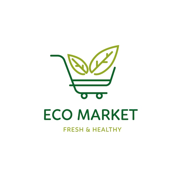 Tema del modello logo supermercato Vettore gratuito