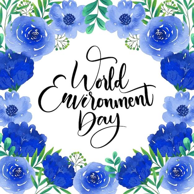 Tema della giornata mondiale dell'ambiente Vettore gratuito