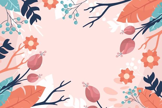 Tema di carta da parati primavera dell'acquerello Vettore gratuito