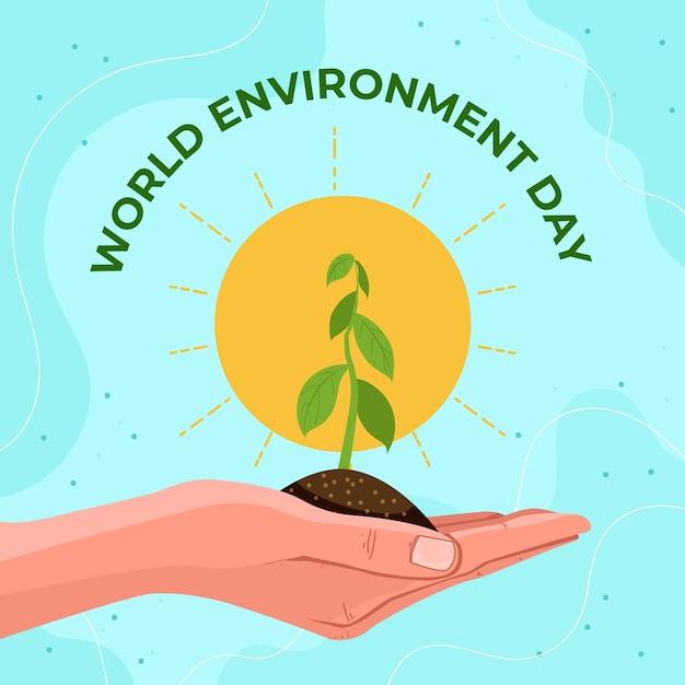 Tema di celebrazione della giornata mondiale dell'ambiente Vettore gratuito