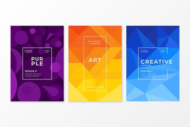 Tema di raccolta copertina geometrica astratta Vettore gratuito