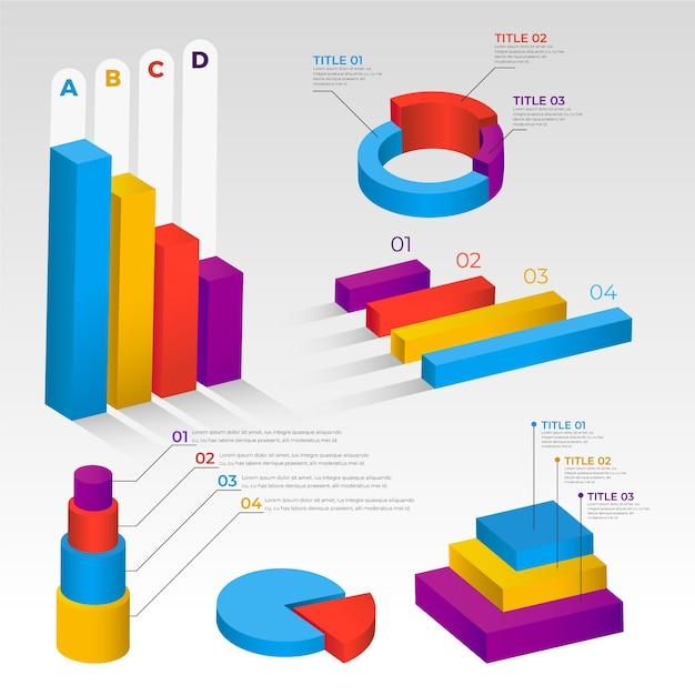 Tema di raccolta infografica isometrica Vettore gratuito