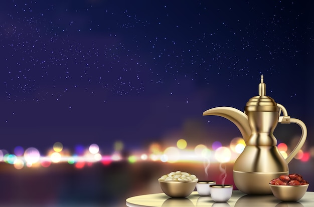 Tema di ramadan kareem Vettore Premium