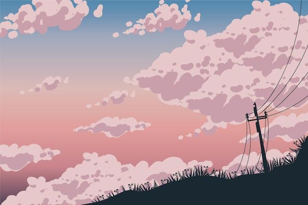 Tema di sfondo del cielo Vettore gratuito
