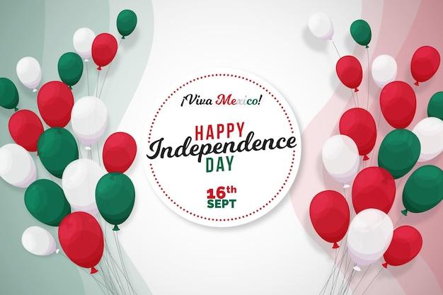 Tema di sfondo del giorno dell'indipendenza del messico Vettore gratuito